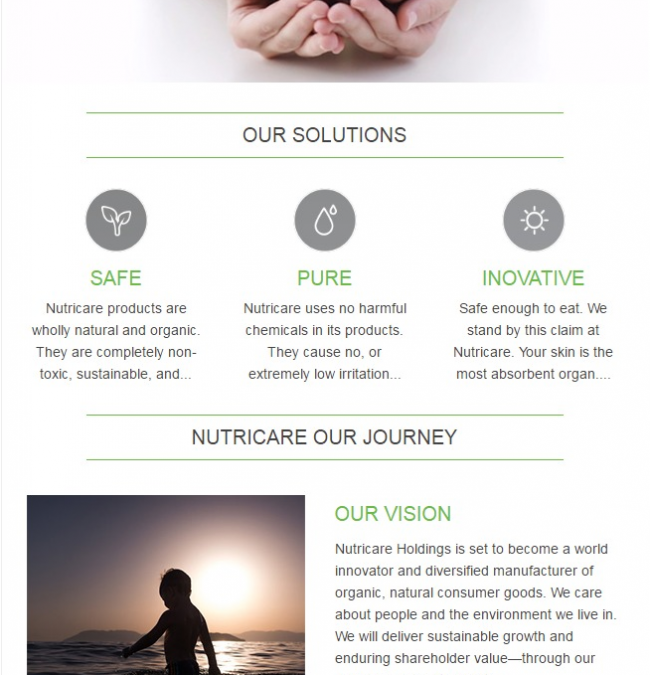 NUTRICARE EMAIL TEMPLATE