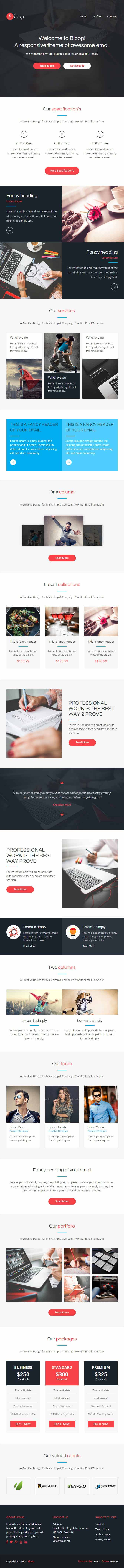 Bloop email Professional Responsive Email Template