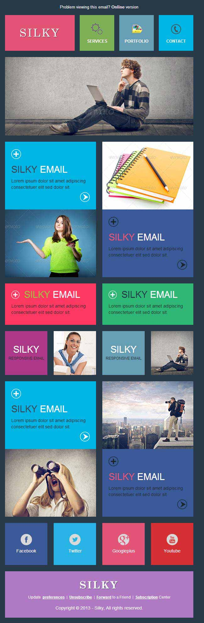 Silky Professional Responsive Email Template