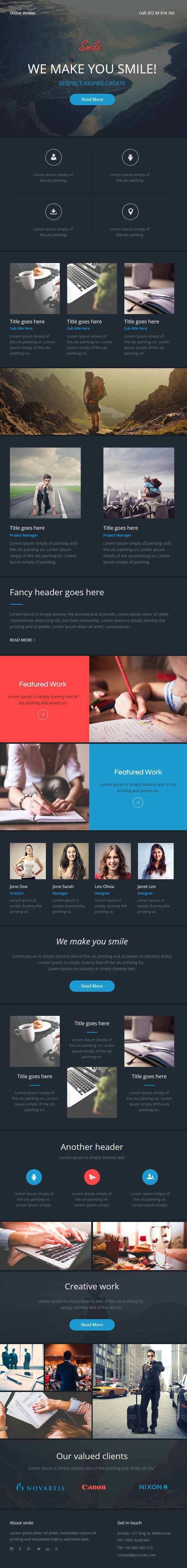 smileOnline Theme-Builder  Professional Responsive Email Template