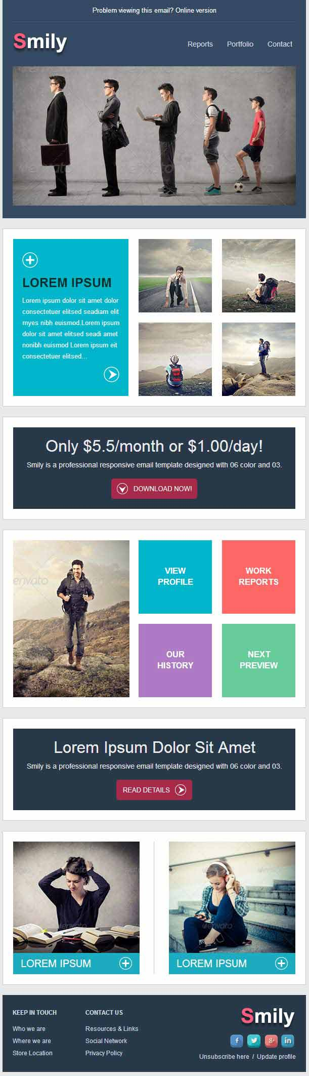 smily professional responsive email template