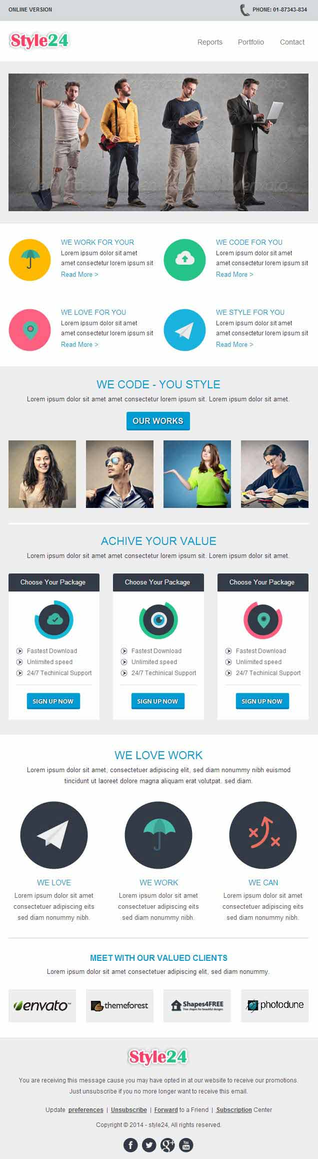 style24 Professional Responsive Email Template