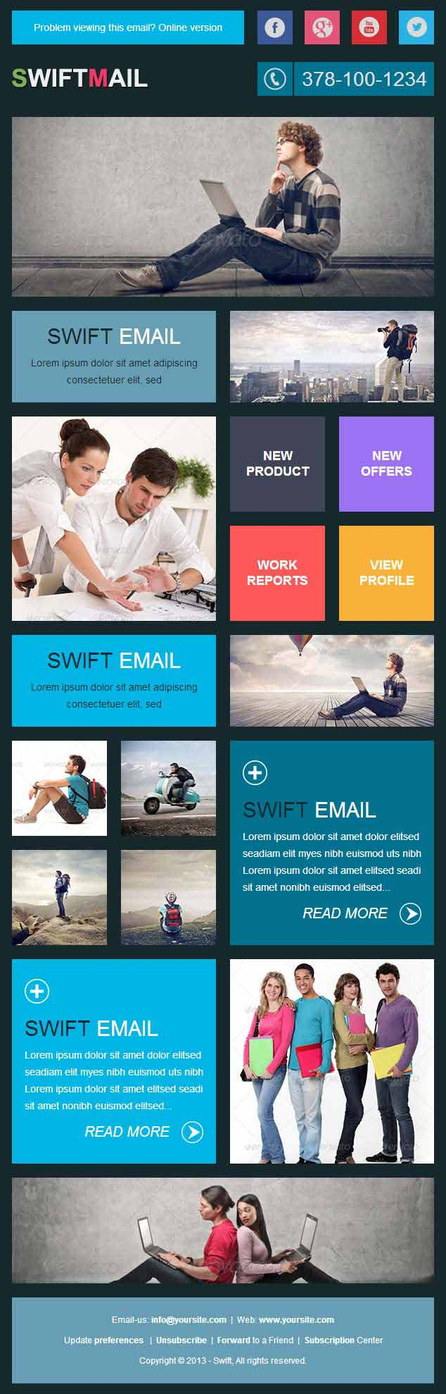 swift professional responsive email template